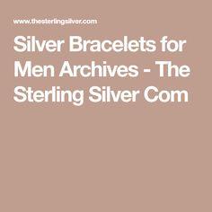 Silver Bracelets for Men Archives - The Sterling Silver Com