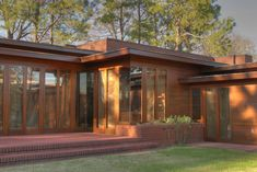 Rosenbaum House. 1940 and an addition in 1948. Frank Lloyd Wright Usonian Style. Florence, Alabama.