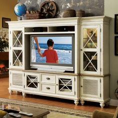 Riverside Coventry Two Tone 58 inch console Wall Unit