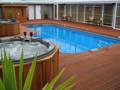 Pool at Amora Lake Resort Okawa Bay, Rotorua New Zealand Rotorua New Zealand, Lake Resort, Motel, Tub, Outdoor Decor, Home Decor, Crafty, Bathtubs, Decoration Home