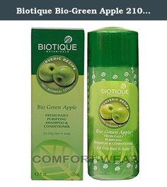 Biotique Bio-Green Apple 210ml Pack of 2. Biotique Botanicals has come up with its Bio Green Apple - Fresh Daily purifying Shampoo and Conditioner. This shampoo has been enriched with a special formula that is instrumental in keeping your hair fresh everyday. At the heart of this formula lies pure green apple extract. Green apple is often touted as 'nature's health fruit' because of the natural nutrients and antioxidants that feature in this apple. Their detoxifying effect is known to have…