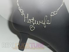 Hotwife anklet. Showing your swinger wife off...
