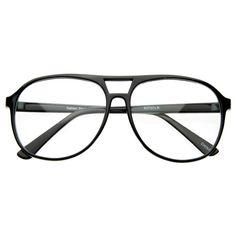 Cool Trendy Thin Frame Large Retro Pops Mens Clear Lens Aviator Glasses 8155 NEW | eBay