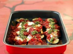 Aubergine parmigiano - vegetarisk gratäng med aubergine