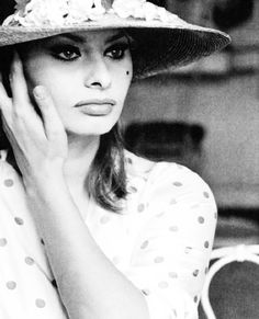 Sophia Loren, 1964.  THE most beautiful woman ever, difficult to select between MM and this lady