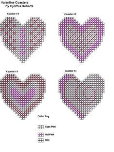VALENTINE COASTERS by CYNTHIA ROBERTS 2/2