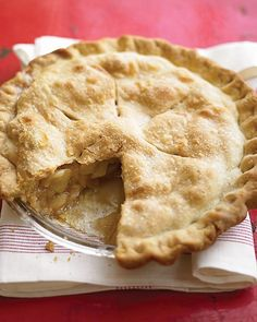 Apple Pie - Martha Stewart (omit lemon juice, use Granny Smith apples, use pie crust recipe from Betty Crocker cookbook)