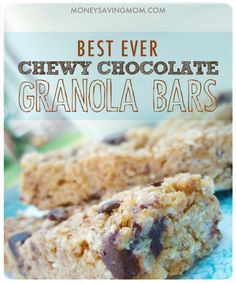 Chewy No Bake Granola Bars -- another pinner says. these are the best granola bars I have ever had! You MUST try this recipe! Best Granola Bars, No Bake Granola Bars, Snack Recipes, Dessert Recipes, Healthy Recipes, Healthy Snacks, Delicious Desserts, Yummy Food, Chocolate Granola