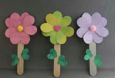 Pipsicle stick flower