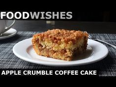 Chef John's tempting coffee cake has diced Honeycrisp or Granny Smith apples layered with a buttery cinnamon-walnut crumble. Apple Desserts, Apple Recipes, Cake Recipes, Dessert Recipes, Breakfast Recipes, Brunch Recipes, Delicious Desserts, Brunch Foods, Breakfast Dishes