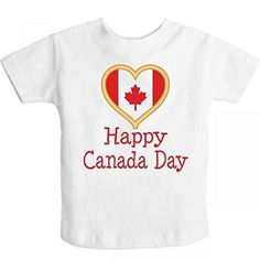 Inktastic Little Boys' Happy Canada Day Toddler T-Shirt 3T White