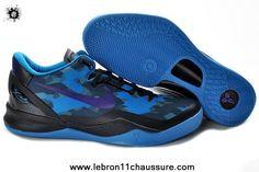 Noir Bleu Pourpre 555035-010 Nike Zoom Kobe VIII 8 Boutique