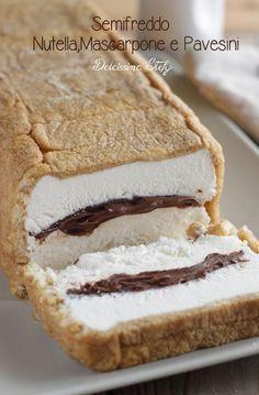 Mascarpone And Nutella Sweet Recipes, Cake Recipes, Dessert Recipes, Italian Bakery, Nutella Recipes, Frozen Desserts, Ice Cream Recipes, Love Food, Cupcake Cakes