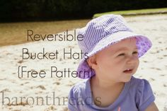 Reversible bucket hat. Free pattern.