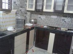 Chocolate and Ivory High gloss Kitchen