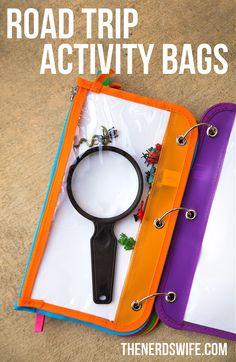 Road Trip Activity Bag Ideas