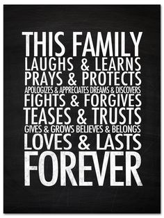 This Family lasts Forever wall print. #homedecor #printable
