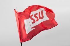 Red in Branding & Graphic Design: SSU by Snask, Sweden
