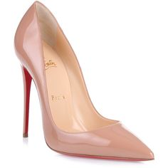 Christian Louboutin So Kate 120 nude patent pump - Christian Louboutin shoes High Heels Stilettos, Stiletto Heels, Christian Louboutin Outlet, Manolo Blahnik Heels, Fashion Heels, Women's Fashion, Fashion Outfits, Louboutin Shoes, Beige Pumps