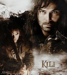 Kili - one of my favorite characters in the hobbit. Legolas And Tauriel, Fili And Kili, Aragorn, Rr Tolkien, Tolkien Books, Hobbit Art, The Hobbit Movies, Aidan Turner, Sophie Turner