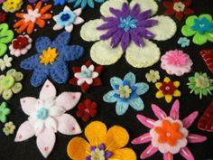Modèles-felt flowers