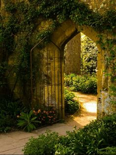 The Secret Garden by Stephen Warner, . - Stephen Warner& Secret Garden, the - The Secret Garden, Secret Gardens, Life Is Beautiful, Beautiful Gardens, Beautiful Places, Garden Doors, Garden Gates, Garden Beds, Garden Archway