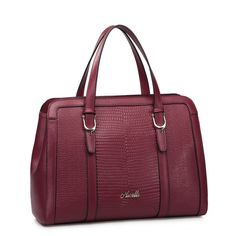 SALE 20 OFF Wine Red Authentic Croco Leather by Fungalicious, $86.00