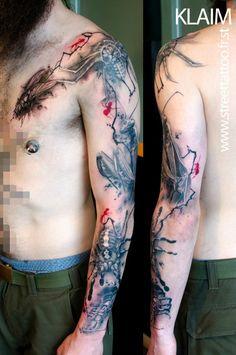 O incrível trabalho do tatuador francês Klaim do Street Tattoo    Tinta na Pele