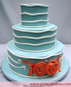 Ocean Themed Wedding Cake by Pink Cake Box