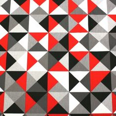 tissu de coton trimix triangles bleus taupe cr me tissupapi pinterest taupe. Black Bedroom Furniture Sets. Home Design Ideas