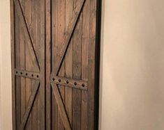 Interior Double Barn Doors - Horizon Style- Sliding Barn Door Package with Barn Hardware Interior Windows, Interior Barn Doors, Shutter Doors, Double Barn Doors, Sliding Windows, Barn Door Hardware, Wood Doors, Shutters, Etsy