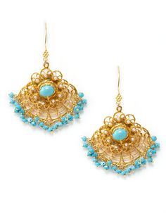 Turquoise Chandeller Drop Earrings