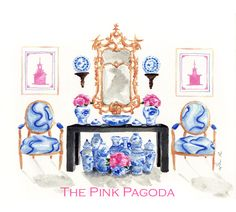 The Pink Pagoda: Blue and White Bash