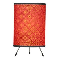 #home #lamps #decor - #Floral luxury royal antique pattern tripod lamp