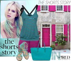 """shorts"" by biljana-miric-ex-tomic ❤ liked on Polyvore"