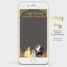 SNAPCHAT Disney Princess Beauty & the Beast by SnappyDaysCo