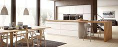 Kvik – Kjøkken, bad og garderobe – Alle har rett til et kult kjøkken Apartment Kitchen, White Wood, Interior Design Kitchen, Home Kitchens, Dream Kitchens, Home And Living, Interior Inspiration, Kitchen Dining, Living Room Decor