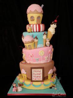 Cake Wrecks - Home - Sunday Sweets: Sweet Treats Sweet Cakes, Cute Cakes, Pretty Cakes, Fondant Cakes, Cupcake Cakes, Cake Story, Cake Wrecks, Candy Cakes, Novelty Cakes