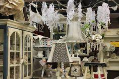 spring display ~ crape paper wisteria