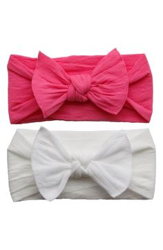 Free shipping and returns on Baby Bling Headbands (2-Pack) at Nordstrom.com. Stretchy headbands are each tied up with a bow for two colorful takes on an adorable accessory.