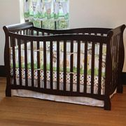 Baby: Child of Mine by Carter's Brookline 4-in-1 Convertible Fixed-Side Crib in Chocolate & Special Savings on Coordinating Nursery Items