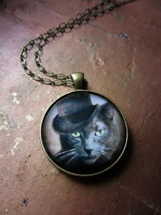 'Captain Grey' Jewelry Necklace Pendant Russian Blue Cat photo by The Lonely Pixel Photography