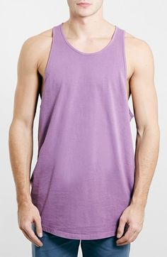Men's Topman Washed Oversize Tank Top