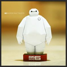 Disney: Big Hero 6 - Baymax Robot Paper Model Free Template Download - http://www.papercraftsquare.com/disney-big-hero-6-baymax-robot-paper-model-free-template-download.html