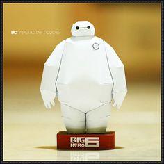 Disney: Big Hero 6 - Baymax Robot Paper Model Free Template Download - http://www.papercraftsquare.com/disney-big-hero-6-baymax-robot-paper-model-free-template-download.html