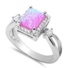 Simulated Pink Fire Opal & Cubic Zirconia Fashion .925 Sterling Silver Rings Sizes 5 Oxford Diamond Co http://www.amazon.com/dp/B00SNP515I/ref=cm_sw_r_pi_dp_G-whvb0KPF6F1