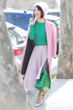 diane-von-furstenberg-saco e roupa casaco rosa para a Primavera de 2016