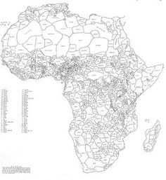 """""""How Africa Would Look Like if its Borders Were Defined By Ethnicity and Language. By George Peter Murdock,1959"""""""
