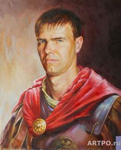 roman soldier portrait | Ribina-Egorova Alena. Portrait of the young man in a suit of the Roman ...