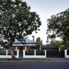 Modern Front Yard, Front Yard Design, Front Yard Fence, Front Yard Landscaping, Contrast Photography, Modern Photography, Modern Fence Design, Yard Privacy, Brick Fence